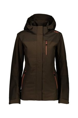 CMP Damen-Jacke Sport WOMAN JACKET ZIP HOOD WOOD 30Z5256-P961
