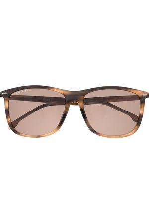 HUGO BOSS Eckige Sonnenbrille in Schildpattoptik