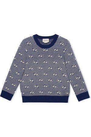 Gucci Jacquard-Pullover mit GG-Streifen