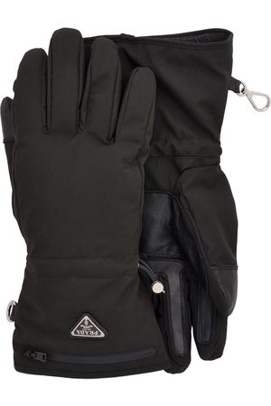 Prada Handschuhe mit Logo-Verzierung
