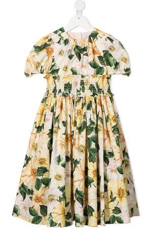 Dolce & Gabbana Mädchen Bedruckte Kleider - Kleid mit Blumen-Print