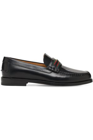"Gucci 25mm Hohe Gg Web- Und Lederloafers ""kaveh"""