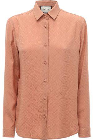 Gucci Damen Blusen - Bedrucktes Hemd Aus Seidenkrepp