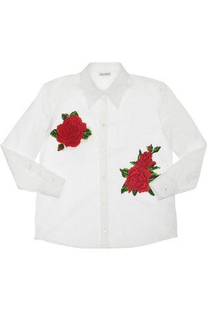 Dolce & Gabbana Hemd Aus Baumwollpopeline Mit Patches