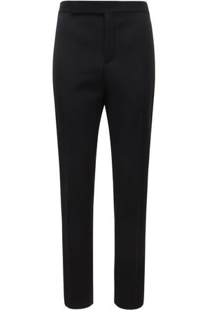 Saint Laurent 16.5cm Wool Pants W/ Satin Bands