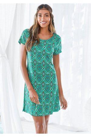 s.Oliver Damen Schlafanzüge - Sleepshirt im Ornamentdruck