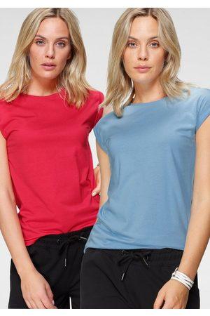 FLASHLIGHTS T-Shirt (2er-Pack) mit überschnittenen Schultern & kleinem Ärmelaufschlag