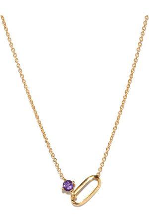 Lizzie Mandler February Birthstone Amethyst & 18kt Necklace