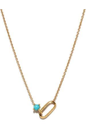 Lizzie Mandler December Birthstone Turquoise & 18kt Necklace