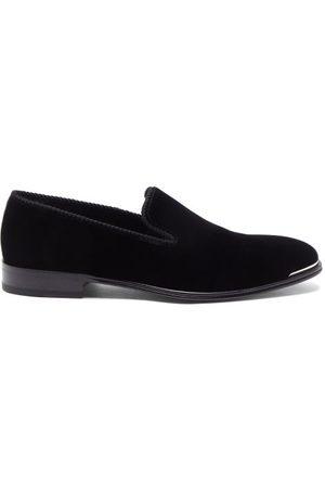 Alexander McQueen Metal-trim Velvet Loafers
