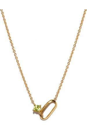 Lizzie Mandler August Birthstone Peridot & 18kt Necklace