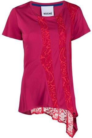 KOCHÉ Damen T-Shirts, Polos & Longsleeves - Asymmetrisches Spitzenoberteil