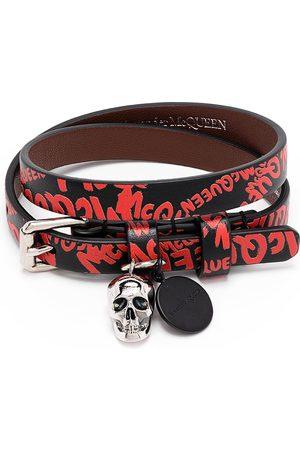 Alexander McQueen Graffiti-Armband mit Totenkopf