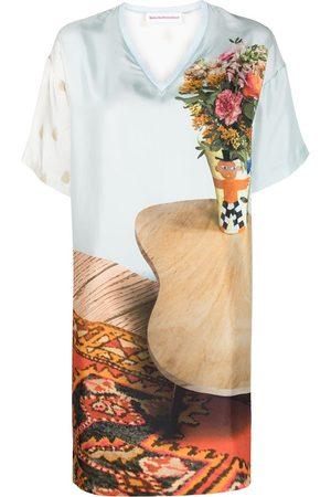 WALTER VAN BEIRENDONCK Kleid aus Seide