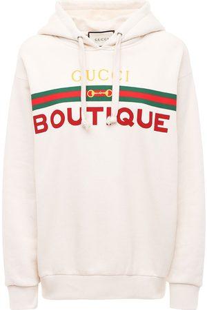Gucci Hoodie Aus Baumwolljersey Mit Druck