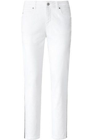Peter Hahn Damen Cropped - Jeans weiss