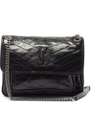 Saint Laurent Damen Geldbörsen & Etuis - Niki Medium Ysl-plaque Leather Shoulder Bag
