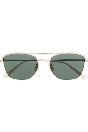 LESCA Sonnenbrille mit eckigem Gestell