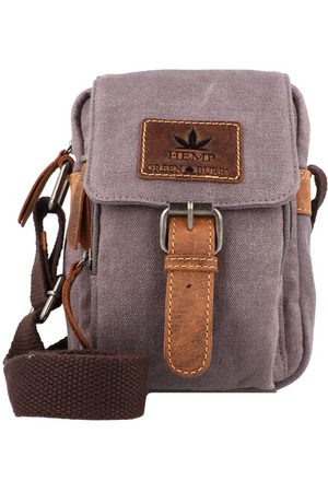 Greenburry Vintage Hemp Umhängetasche 14 cm, light grey