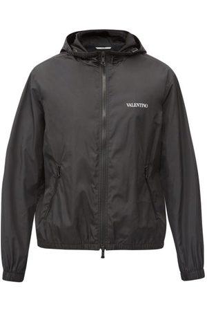 Valentino Hooded Logo-print Technical Windbreaker Jacket