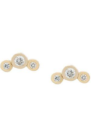 Zoe Chicco 14kt Gelbgoldohrstecker mit Diamanten