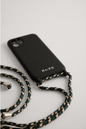 NA-KD Cord Strap Phone Case - Black,Green