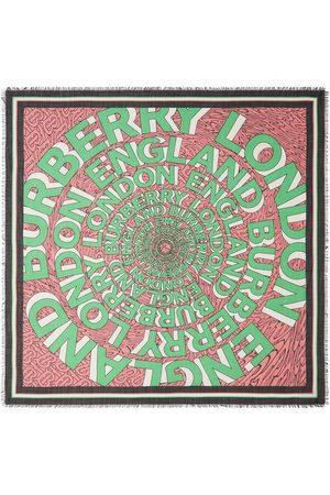 Burberry Großer Schal mit Logo-Print