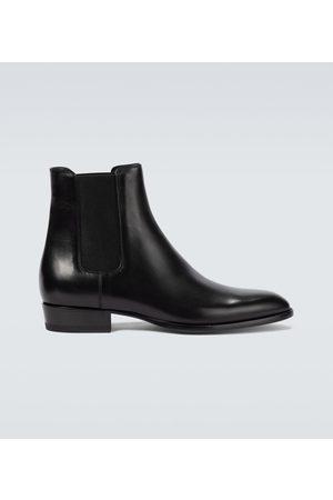 Saint Laurent Chelsea Boots Wyatt aus Leder