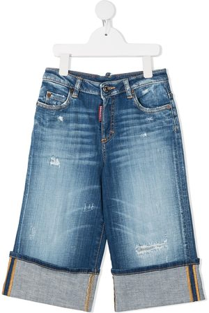 Dsquared2 Mädchen Cropped - Cropped-Jeans mit Distressed-Detail