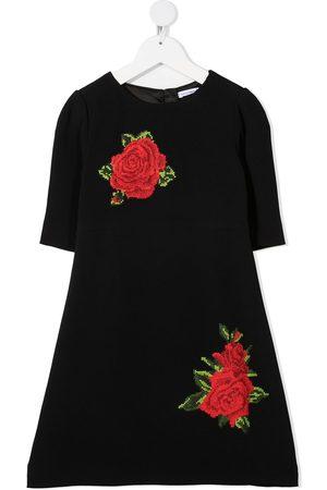 Dolce & Gabbana Mädchen Freizeitkleider - Kleid mit Rosenstickerei