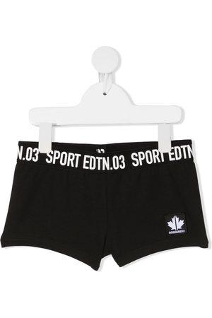 Dsquared2 Mädchen Kurze Hosen - Sport-Shorts mit Logo-Streifen