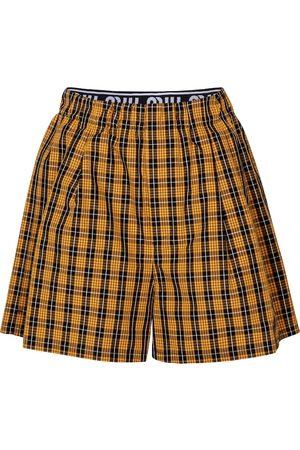 Miu Miu Karierte Shorts aus Baumwolle