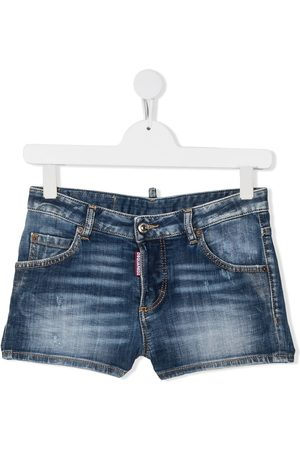 Dsquared2 Ausgeblichene TEEN Jeans-Shorts