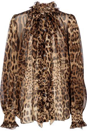 Dolce & Gabbana Bedruckte Bluse aus Seidenchiffon