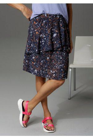 Aniston CASUAL Sommerrock mit verspielten Volants im Vorderteil