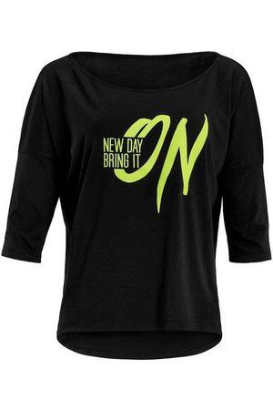 Winshape 3/4-Arm-Shirt »MCS001 ultra leicht« mit Neon gelbem Glitzer-Aufdruck