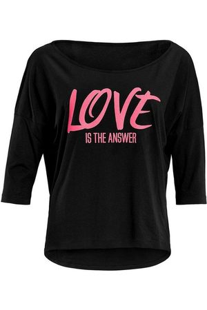 Winshape 3/4-Arm-Shirt »MCS001 ultra leicht« mit Neon pinkem Glitzer-Aufdruck