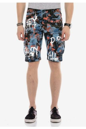 Cipo & Baxx Shorts mit angesagtem Denim-Coating
