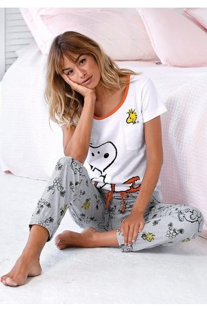 Peanuts Pyjama mit Snoopy und Woodstock Druck