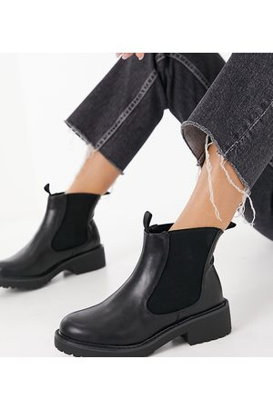 London Rebel – Chelsea-Ankleboots in weiter Passform