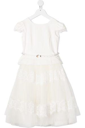 MONNALISA Mädchen Röcke - Kleid mit ausgestelltem Tüllrock