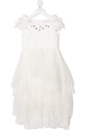 MONNALISA Langes Kleid mit gestuftem Tüll