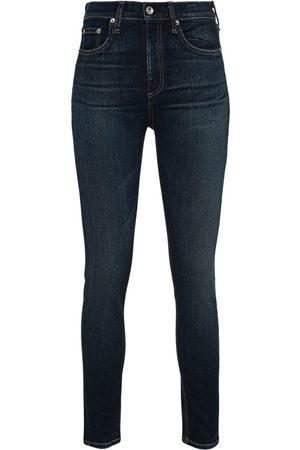 RAG&BONE Damen High Waist Jeans - High Rise Ankle Skinny Dark Blue