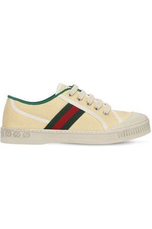GUCCI Sneakers Aus Canvas Mit Webdetails