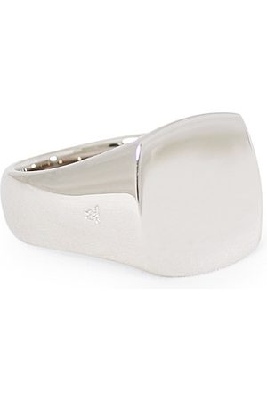 TOM WOOD Herren Ringe - Cushion Polished Ring Silver
