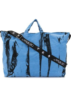 Off-White Shopper mit Batik-Print