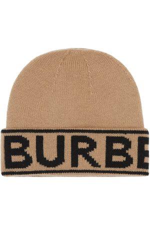 Burberry Intarsien-Beanie mit Logo