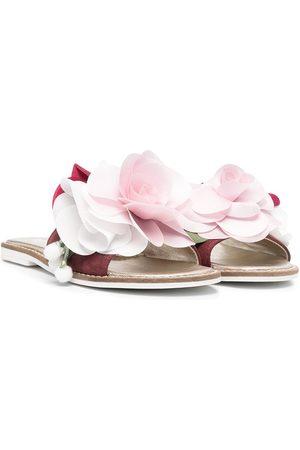MONNALISA Mädchen Clogs & Pantoletten - Pantoletten mit Blumenapplikation