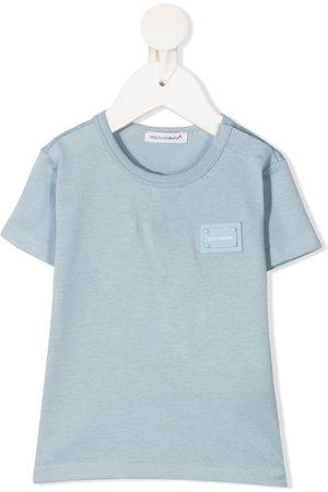 Dolce & Gabbana T-Shirt mit Logo-Schild