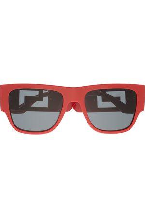 VERSACE Eckige Sonnenbrille mit Greca-Bügeln